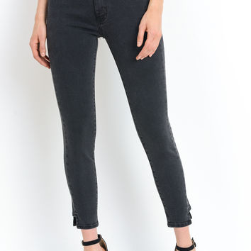 Charcoal Side Seam Skinny Jeans