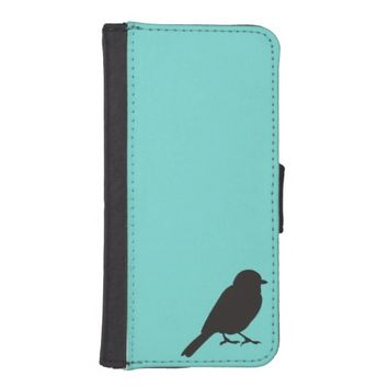 Chic blue sparrow swallow love bird silhouette