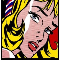 Roy Lichtenstein Girl with Hair Ribbon Pop Art Poster 11x17