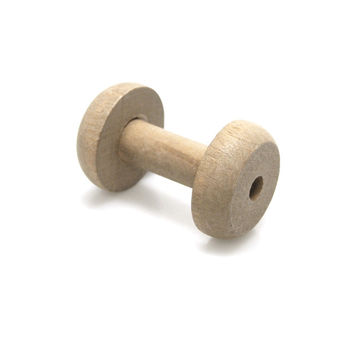Empty Wooden Spools, Barrel, 2-3/4-inch