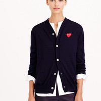 Fashion Spring Woman Casual Play Cardigan Women Sweaters COMME DES GARCONS Women Lovers Ouple Hearts V Neck Lovers Sweater