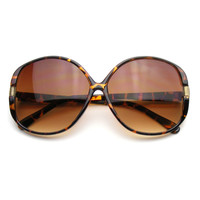 Oversize Womens Fashion Designer Square Butterfly Sunglasses
