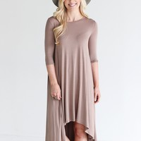 Taupe PIKO High-Low Dress