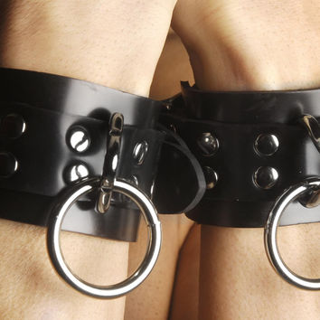 Strict Leather Locking Rubber Wrist Restraints