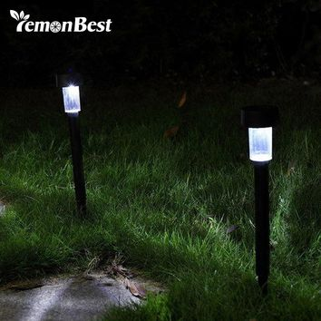 LED Solar Light Outdoor Lighting Stainless Steel Lawn Lamp for Christmas Garden Decoration Path Lamp Auto On with Spike Tube