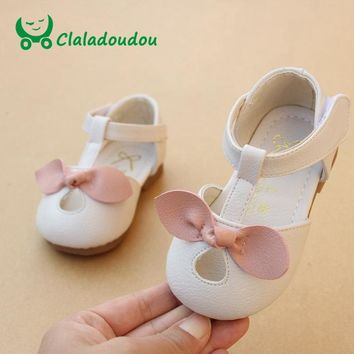 12-14CM 2018 Spring Baby Girl Walking Shoes White Princess Baby Shoes Pu Leather Pink Infant Shoes Girls Party Party Dress Shoes