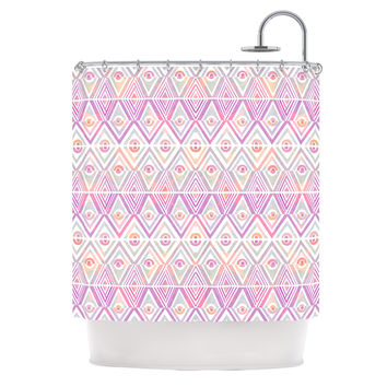 "Pom Graphic Design ""Soft Petal Tribal"" Shower Curtain"