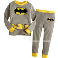 Baby Toddler Boy Kid Batman Clothes Sleepwear Pajama Pjs 2 Pcs Set 1-7 Years Old = 1927946372