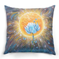 Lotus & Butterflies Pillow