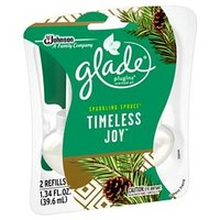Glade Holiday PlugIns Scented Oil 2-Count Refill, Timeless Joy 1.34oz