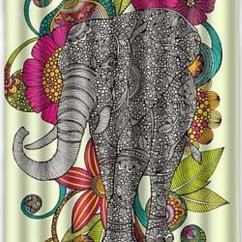 Elephant Beautiful Design Waterproof Fabric Polyester Bathroom Shower Curtain...