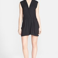 Women's Alice + Olivia 'Cai' Sleeveless Woven Romper