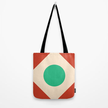 Red Peak Tote Bag by spaceandlines
