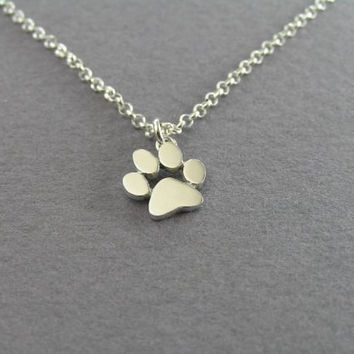 2017 New Chokers Necklace Tassut Cat and Dog Paw Print Animal Jewelry Women Pendant Long Cute Delicate Statement Necklaces N191