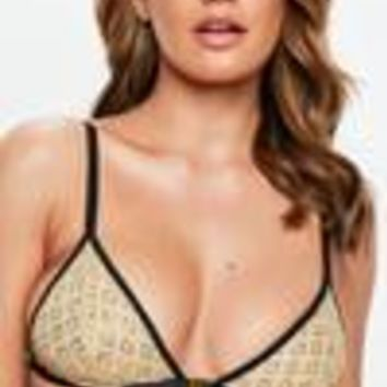 Missguided - Gold Glitter Triangle Bra