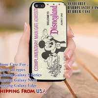 Cute Vintage Ticket iPhone 6s 6 6s+ 5c 5s Cases Samsung Galaxy s5 s6 Edge+ NOTE 5 4 3 #cartoon #animated #disney #MickeyMouse dl8