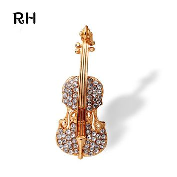 Elegant brooches Bouquets jewelry for women wedding accessories Music Violin brooches for women and men gift jewelry