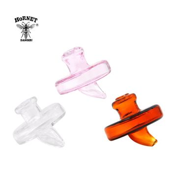 HORNET Creative Airship Shape Glass Carb Cap Dabber Wax Oil Tool 1.38 Inch Handle Oil Wax Cavers Tool Water Pipe Accessories