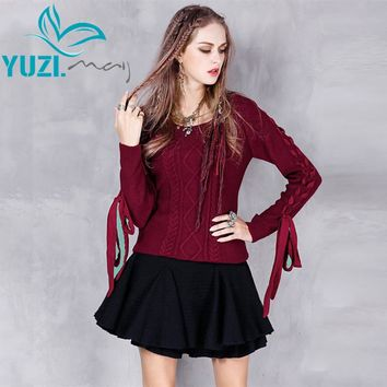Sweater Women New Cotton Wool Pullover Long Sleeve O-Neck Jacquard Skinny Warm Sweaters Pull