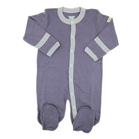 Baby footed sleepsuit - dolphin (purple grey)