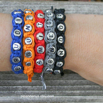 Faction Bracelets, Movie Fan Bracelets, Divergent Inspired Bracelets, Beaded Word Bracelet