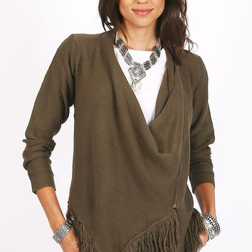 Into The Airwaves Fringe Cardigan