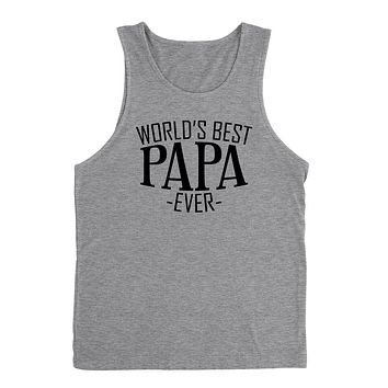 World's best papa ever  family father's day birthday christmas gift ideas  best grandpa  grandfather  Tank Top