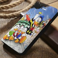 Donald Duck Family Custom Wallet iPhone 4/4s 5 5s 5c 6 6plus 7 and Samsung Galaxy s3 s4 s5 s6 s7 case