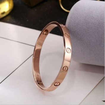 One-nice™ Perfect Cartier Women Fashion LOVE Plated Bracelet Jewelry