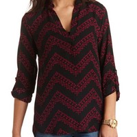 TRIBAL CHEVRON HI-LO TOP