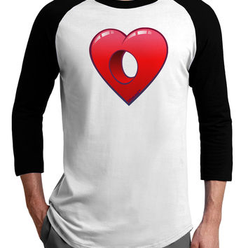 Hole Heartedly Broken Heart Adult Raglan Shirt by