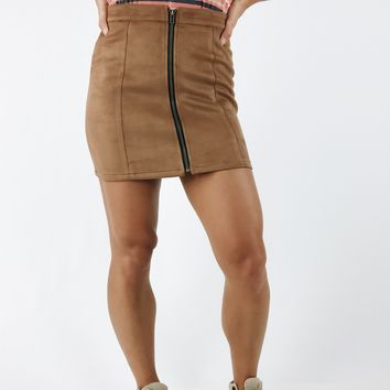All Day All Night Skirt - Camel