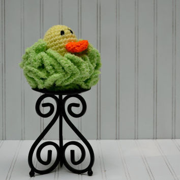 Duck Bath Pouf - Crochet Loofah Sponge for Children and Babies