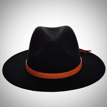 Men's Fedora Hat Classical Wide Brim
