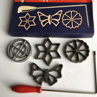 Vintage Waffelbacerei Rosette Iron Set * Made in Germany