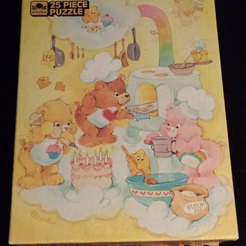"Vintage 1986 Care Bears 25 pc Puzzle, 10""x13"""