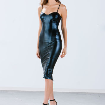 Liquid Slick Bustier Dress GoJane.com