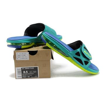 Air Lebron Slide Green/Blue Size 40-46