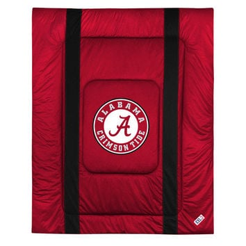 NCAA Alabama Crimson Tide Comforter Sidelines Bedding: Queen
