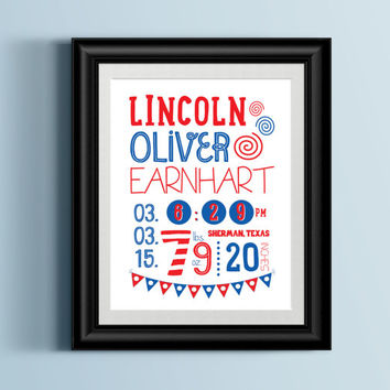 Custom Home Decor- Custom Dr. Suess Cat in The Hat Themed Nursery Subway Print