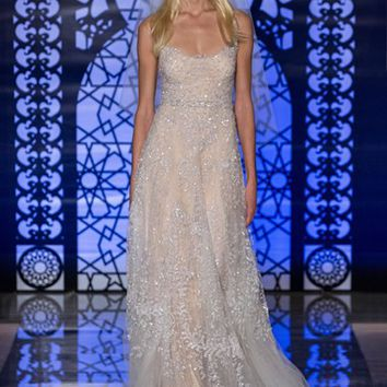 Reem Acra 'Chloe' Beaded & Embroidered A-Line Dress (In Stores Only) | Nordstrom