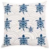 One Kings Lane - Pillow & Throw Picks - Allem Studio Turtles Pillow, Navy