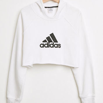 Retro Gold Cropped Adidas Pullover Hoodie From Pacsun Epic