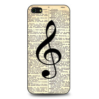 Musical Notes and Old newspaper iPhone 5 | 5S case