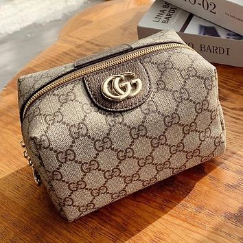 GUCCI Hot Fashion Women's Small Lettering Cosmetic Bag