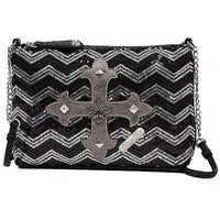 Miss Me Chevron Crossbody Purse
