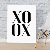 XOXO Scandinavian Art Fashion Art Print Minimalism Art Printable Wall Art Digital Instant Download Nordic Design Typography Print Fashion