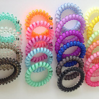 Colorful Hair Tie/ Colorful Plastic Wire Hair Tie