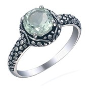 Vir Jewels Sterling Silver Green Amethyst Ring (1.20 CT) In Size 5