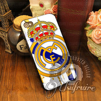 Real Madrid FC Logo - iPhone 4/4s/5/5s/5c Case - Samsung Galaxy S2/S3/S4 Case - Black or White
